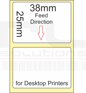 38mm x 25mm Labels